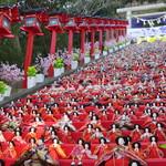 【千葉県ふっこう割】かつうらビッグひな祭り、頼朝桜祭り、笠森観音参拝と活貝焼きバイキング